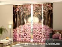 Панельная штора Весенние магнолии комплект 4 шт