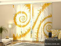 Панельная штора Ромашки-улитки комплект 4 шт
