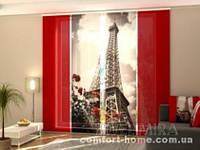 Панельная штора Башня и Розы комплект 4 шт