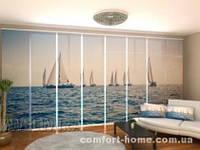 Панельная штора Море и парусники комплект 8 шт