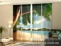 Панельная штора Океан и пальмы комплект 4 шт