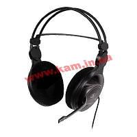 Наушники A4 с микрофоном кабель 2м 20-20000Гц разъем 3,5мм черные Наушники A4 HS-100 с микр (HS-100)