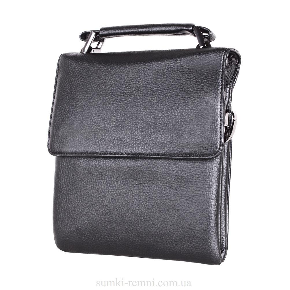 Мужская сумка из кожзаменителя E302862 Черная