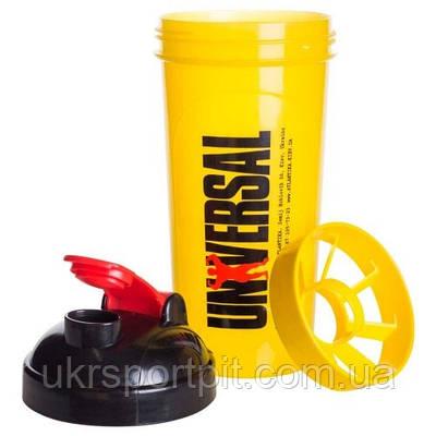Шейкер Universal 700мл желтый