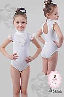 Купальник для танцев и гимнастики белый