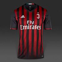 Футбольная форма 2016-2017 Милан (Milan), домашняя, красно-черная, м20