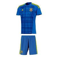 Футбольная форма Cб. Украина ЧЕ 2016, синяя, с вышиванкой, т15