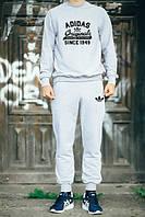 Спортивный костюм Adidas, адидас, серый, хлопок, стильный, спортивный, К8