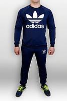 Спортивный костюм Adidas, адидас, синий, реглан, хлопковый, с манжетом , спортивный, К40