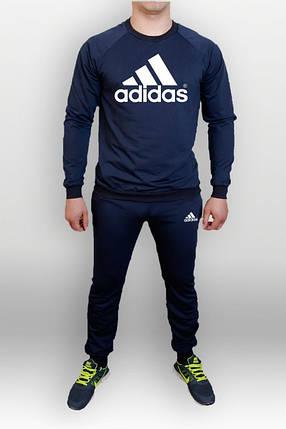 Спортивный костюм Adidas, адидас, синий, реглан, в наличии, хб, К42, фото 2