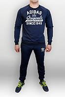 Спортивный костюм Adidas, адидас, ориджиналс, синий, реглан, с манжетом, большое лого,  К46