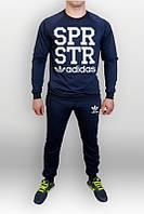 Спортивный костюм Adidas, адидас, синий, реглан, хлопковий, спортивный, в ассортименте, К47