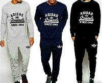 Спортивный костюм Adidas, адидас, реглан, хлопковый, спортивный, молодежный, К55
