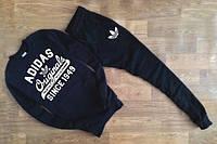 Зимний спортивный костюм, теплый костюм Adidas, Адидас, черный, а наличии, К58