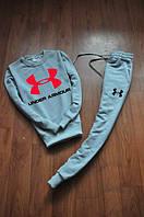 Спортивный костюм Under armour, андер армор, серый, реглан, спортивный, трикотаж, в наличии, К67