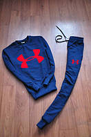 Спортивный костюм Under armour, андер армор, синий, реглан, красное лого, в наличии, К69