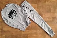 Спортивный костюм Venum, венум, серый, реглан, новый, большое лого, хб, К98