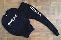 Спортивный костюм Venum, венум, черный, мужской, хлопок, лого на груди, К108