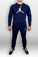 Спортивный костюм Jordan, джордан, синий, реглан, спортивный, лого на груди, хлопок, К129