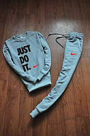 Спортивный костюм Nike, спортивный костюм найк, унисекс, цвет: серый, К147
