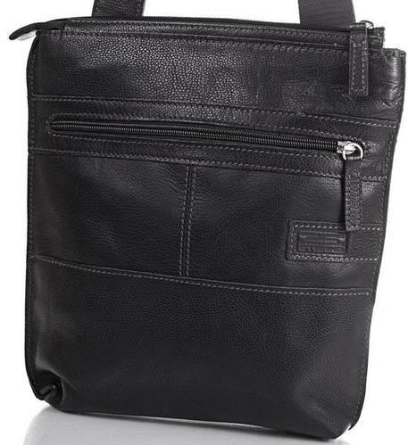 Кожаная стильная мужская сумка-планшет ETERNO (ЭТЭРНО) ERM514B Черный