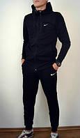 Спортивный костюм Nike, найк, черный, кенгуру, на змейке, с капюшоном, трикотаж, а наличии, К220