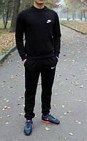 Спортивный костюм Nike, найк, черный, релан, стильный, спортивный, мелкое лого, молодежный, К227