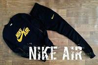 Спортивный костюм Nike, найк, черный, релан, стильный, спортивный, желтое лого, молодежный, К228