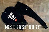 Спортивный костюм Nike, найк, черный, релан, стильный, спортивный, молодежный, большое лого, К229