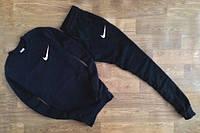 Спортивный костюм Nike, найк, черный, релан, трикотаж, мелкое лого, спортивный, К236