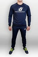Спортивный костюм New balance, нью беленс, реглан, синий, хлопковый, повседневный, молодежный, К244