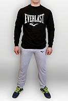 Спортивный костюм Nike, найк,  релан, серо-черный, стильный, хб, мужской, спортивный, К241