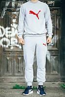 Спортивный костюм Puma, пума, серый, реглан, хлопковый, спортивный, К246