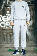 Спортивный костюм Puma, пума, реглан, серый, хлопковый, спортивный, молодежный, К252