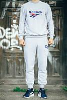 Спортивный костюм Reebok, рибок, серый, реглан, спортивный, повседневный, К 266