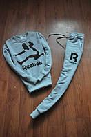 Спортивный костюм Reebok, рибок, серый, реглан, спортивный, молодежный, К 269