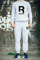 Спортивный костюм Reebok, рибок, серый, реглан, спортивный, трикотаж,повседневный, К 272