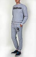 Спортивный костюм Reebok, рибок, серый, реглан, хб, спортивный, повседневный, К 273