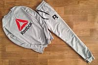 Спортивный костюм Reebok, рибок, серый, реглан, спортивный, трикотаж, стильный, повседневный, К 294