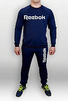 Спортивный костюм Reebok, рибок, синий, реглан, трикотаж, спортивный, стильный, моложедный, К313