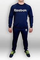 Спортивный костюм Reebok, рибок, синий, реглан, спортивный, трикотаж, стильный, моложедный, К314