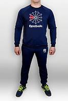 Спортивный костюм Reebok, рибок, синий, реглан, трикотаж, стильный, К315