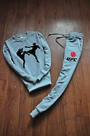 Спортивный костюм UFC, юфс, серый, реглан, спортивный, молодежный, К377