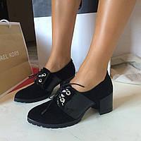 Стильные женские туфли от Troisrois из натурального турецкого замша и лака