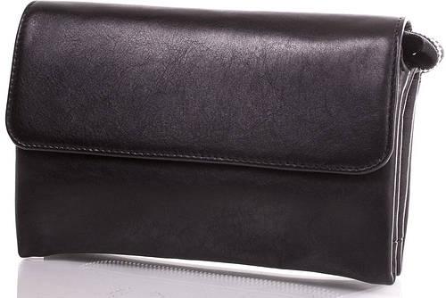 Деловая мужская борсетка из натуральной кожи VALENTA (ВАЛЕНТА) VBC141011 черный