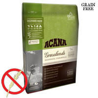 Беззерновой сухой корм на основе мяса ягненка, утки и рыбы для собак всех пород Acana Grasslands Dog 340 гр.