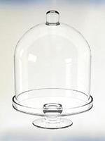 Тортовница с крышкой Н380мм, диам 260мм, стекло 22009
