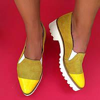 Стильные женские комфортные туфли и TroisRois з натуральной турецкой кожи и замша