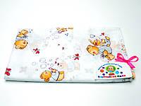 Ситцевая  пеленка (белая с зайчиками)