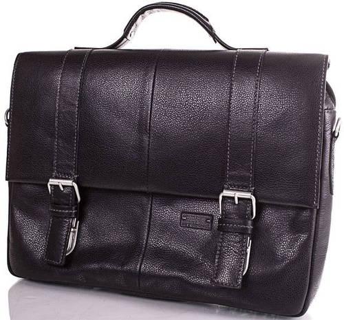 Кожаный мужской портфель ETERNO (ЭТЭРНО) ERM2142B  Черный